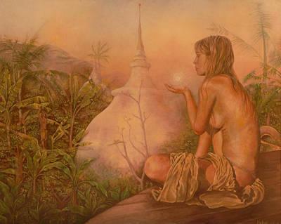 Chakra Painting - Sacred Lands by Melina Del Mar
