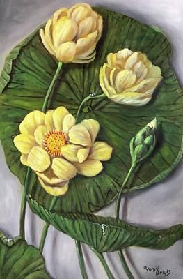 Painting - Sacred Lotus by Randy Burns