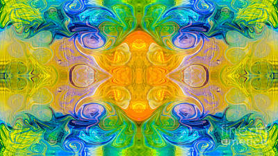 Painting - Sacred Moments Abstract Design Artwork By Omaste Witkowski by Omaste Witkowski
