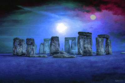 Digital Art - Sacred Places - Stonehenge by Serge Averbukh