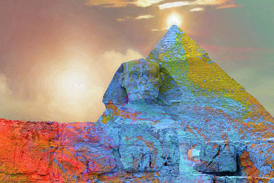 Digital Art - Sacred Places - The Great Sphinx Of Giza In Front Of The Great Pyramid by Serge Averbukh