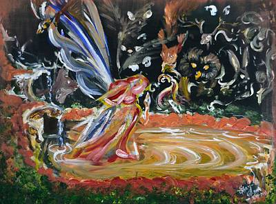 Painting - Sacred Pool 2 by Katerina Naumenko