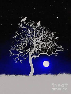 Raven Digital Art - Sacred Raven Tree by Robert Foster