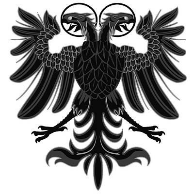 Painting - Sacred Roman Empire Eagle by Andrea Mazzocchetti