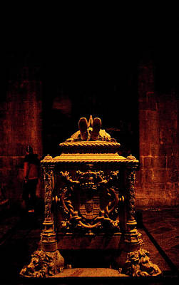 Photograph - Sacred Sarcophagus, Lisbon Cathedral  by Lorraine Devon Wilke