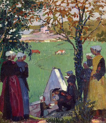 Symbolic Painting - Sacred Spring At Guidel by Maurice Denis