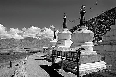Photograph - Sacred Stupas - Central Tibet by Craig Lovell