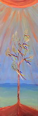 Painting - Sacred Sun Dance Tree by Kate Purdy