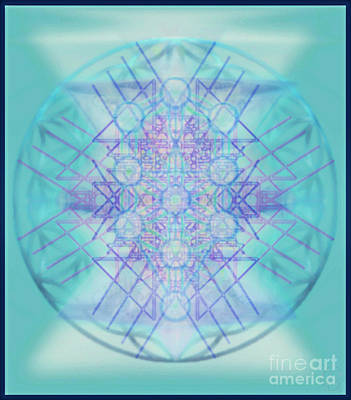 Digital Art - Sacred Symbols Out Of The Void A2b by Christopher Pringer