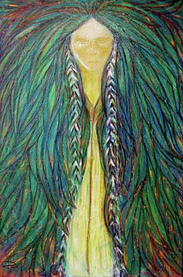 Spiritual Teacher Painting - Sacred Teacher by NARI - Mother Earth Spirit