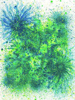 Fireworks Painting - Sacred Token From The Emerald Tablet #599 by Rainbow Artist Orlando L aka Kevin Orlando Lau