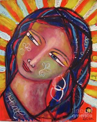 Painting - Sacred Traveler, Sacred Healer  by Corina Stupu Thomas