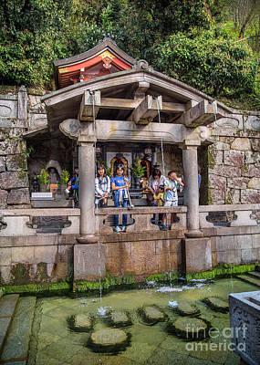 Photograph - Sacred Water Of Otowa-no-taki by Karen Jorstad