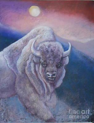 Pastel - Sacred White Buffalo by Pamela Mccabe
