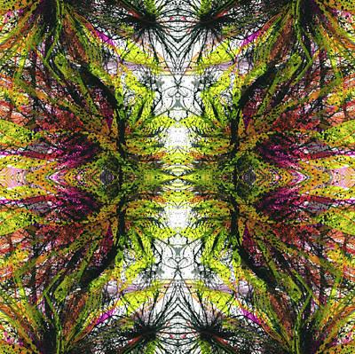 Joy Mixed Media - Sacredness Of Interconnectedness #1510 by Rainbow Artist Orlando L aka Kevin Orlando Lau