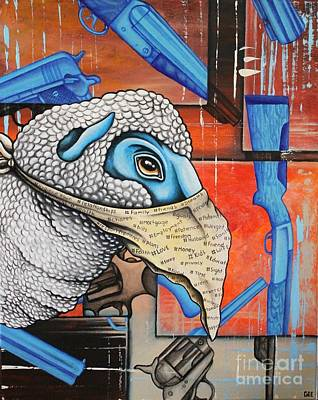 Glock Painting - Sacrificial Lamb by Dan Gee