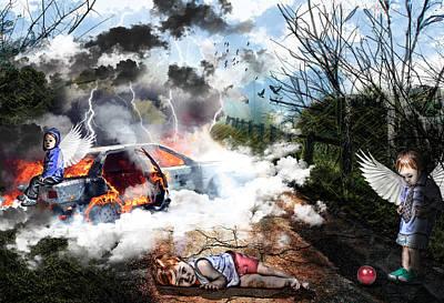 Cracks Mixed Media - Sacrifice by Danielle Kasony