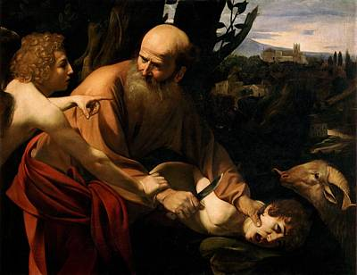 Caravaggio Painting - Sacrifice Of Isaac  Circa 1603 By Caravaggio Milan 1571  Porto 1610 by Celestial Images