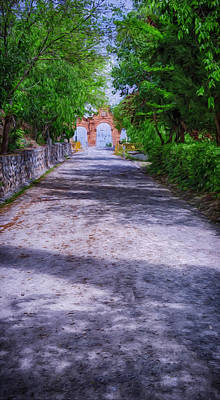 Light And Shadow Photograph - Sacromonte Abbey Entrance by Joan Carroll