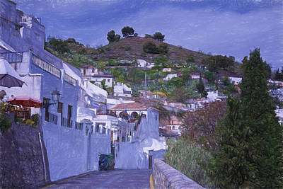 Sacromonte Neighborhood Granada Spain Art Print by Joan Carroll