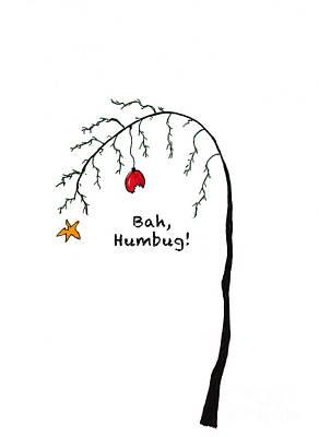Crabby Bah Humbug Christmas Tree - Bah Humbug Art Print