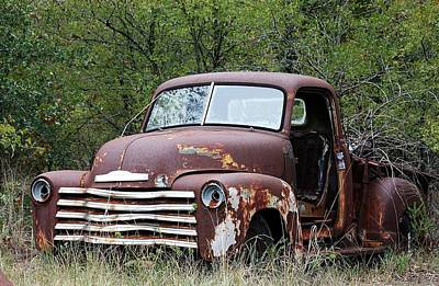 Photograph - Sad And Lonely Abandoned Chevy Truck by Sheila Brown