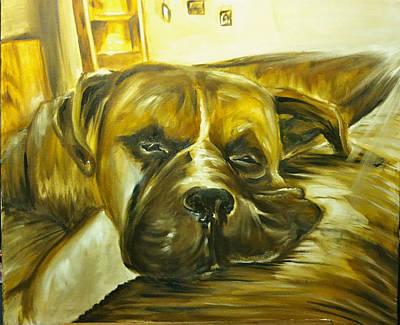 Sad Boxer Art Print by Austin Howlett