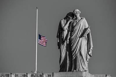 Inauguration Day Photograph - Sad Day Usa, January 20, 2017 by Wayne Higgs