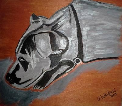 Sad Dog Original by Ann Whitfield
