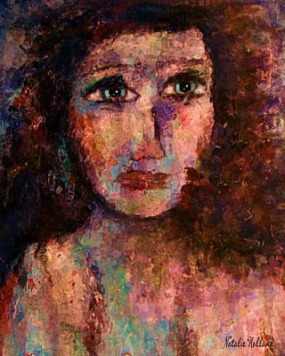 Capture Mixed Media - Sad Eyes by Natalie Holland