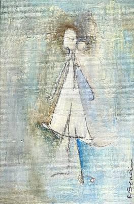 Sad Girl Art Print by Ricky Sencion