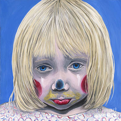 Sad Little Girl Clown Original