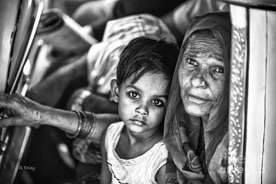 Photograph - Sad Little Princess From India by Rene Triay Photography