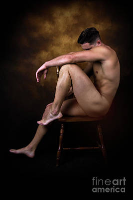 Male Digital Art - Sad  by Mark Ashkenazi