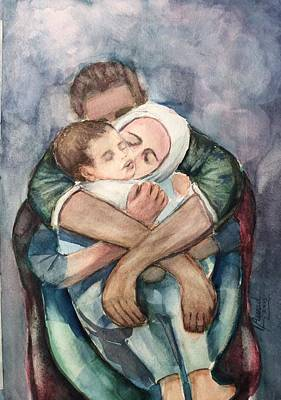 Painting - The Saddest Moment by Laila Awad Jamaleldin