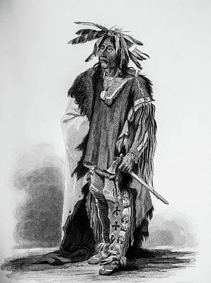 1833 Photograph - Sad Native American by Douglas Barnett