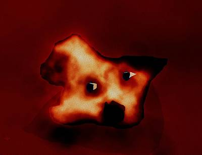 Digital Art - Sad Pup by Cliff Wilson
