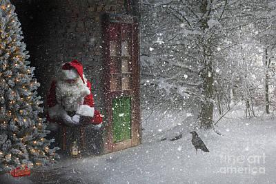 Digital Art - Sad Santa by Jim Hatch