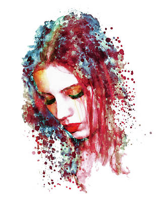 Artistic Mixed Media - Sad Woman by Marian Voicu