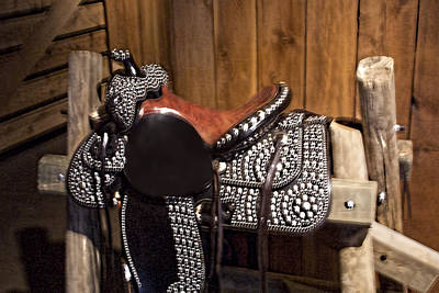 Saddle In Pony Express Stables Original by Linda Phelps
