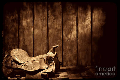 Photograph - Saddle In The Corner by American West Legend By Olivier Le Queinec