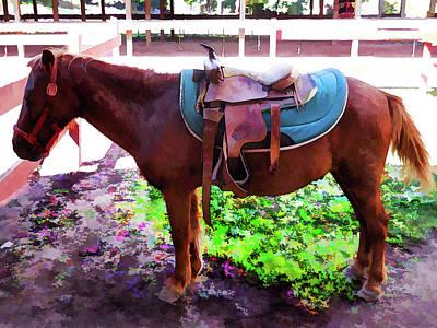 Scoop Painting - Saddle On Horseback 2 by Lanjee Chee