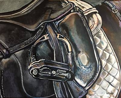 Painting - Saddle Study by Stephanie Come-Ryker