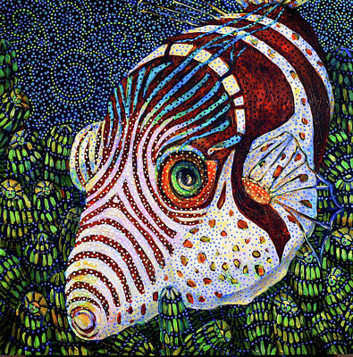 Painting - Dreamtime Saddled Puffer by Cora Marshall