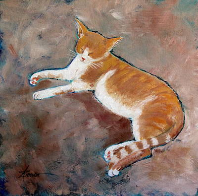 Painting - Saddle Tramp- Ranch Kitty by Adele Bower