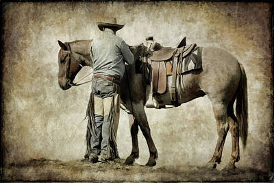 Photograph - Saddling Up by Athena Mckinzie
