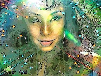 Digital Art - Sade Adu by Karen Buford