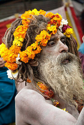 Naga Photograph - Sadhu - Hardwar India by John Battaglino