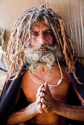 India Babas Photograph - Sadhu In Tent by John Battaglino