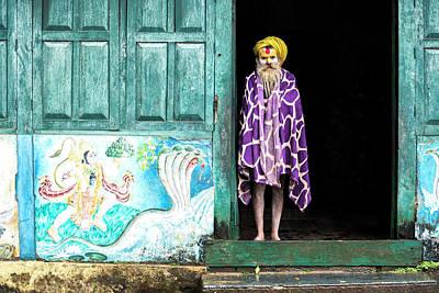 Sadhu In The Doorway Art Print by Lindley Johnson